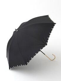[Rakuten Fashion]スカラップフラワー刺繍晴雨兼用長傘日傘 Afternoon Tea アフタヌーンティー・リビング ファッショングッズ ファッショングッズその他 ブラック ネイビー ブルー