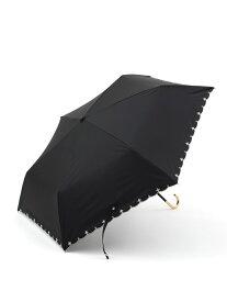 [Rakuten Fashion]スカラップフラワー刺繍晴雨兼用折りたたみ傘日傘 Afternoon Tea アフタヌーンティー・リビング ファッショングッズ ファッショングッズその他 ブラック ネイビー ブルー