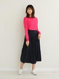 [Rakuten Fashion]【SALE/44%OFF】サテンワッシャープリーツスカート Afternoon Tea アフタヌーンティー・リビング スカート スカートその他 ネイビー カーキ【RBA_E】