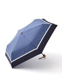 [Rakuten Fashion]シャンブレーフラワーレース晴雨兼用折りたたみ傘日傘 Afternoon Tea アフタヌーンティー・リビング ファッショングッズ ファッショングッズその他 ネイビー ピンク ブラック