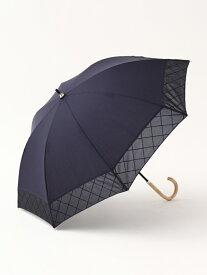 [Rakuten Fashion]シャドーチェック晴雨兼用長傘日傘 Afternoon Tea アフタヌーンティー・リビング ファッショングッズ ファッショングッズその他 ネイビー ブラック