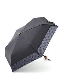 [Rakuten Fashion]シャドーチェック晴雨兼用折りたたみ傘日傘 Afternoon Tea アフタヌーンティー・リビング ファッショングッズ ファッショングッズその他 ブラック ネイビー