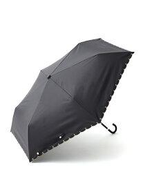 [Rakuten Fashion]スカラップハート刺繍晴雨兼用折りたたみ傘日傘 Afternoon Tea アフタヌーンティー・リビング ファッショングッズ ファッショングッズその他 ブラック ホワイト ネイビー