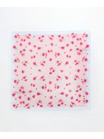 [Rakuten Fashion]水彩フラワー柄ハンカチ Afternoon Tea アフタヌーンティー・リビング ファッショングッズ ファッショングッズその他 ピンク パープル