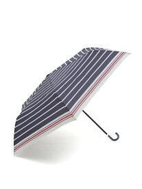 [Rakuten Fashion]マリンボーダー折りたたみ傘 雨傘 Afternoon Tea アフタヌーンティー・リビング ファッショングッズ 日傘/折りたたみ傘 ネイビー グリーン ホワイト