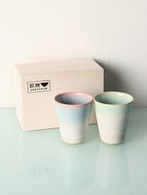 [Rakuten Fashion]萩焼フリーカップペアセット Afternoon Tea アフタヌーンティー・リビング 生活雑貨 キッチン/ダイニング レッド