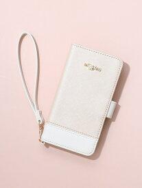 フラワーチャームブック型iPhone8/7/SEケース Afternoon Tea アフタヌーンティー・リビング ファッショングッズ 携帯ケース/アクセサリー ピンク ホワイト[Rakuten Fashion]