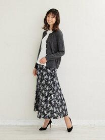 [Rakuten Fashion]【SALE/44%OFF】サテンフラワープリントフレアスカート Afternoon Tea アフタヌーンティー・リビング スカート スカートその他 ブラック ブラウン【RBA_E】