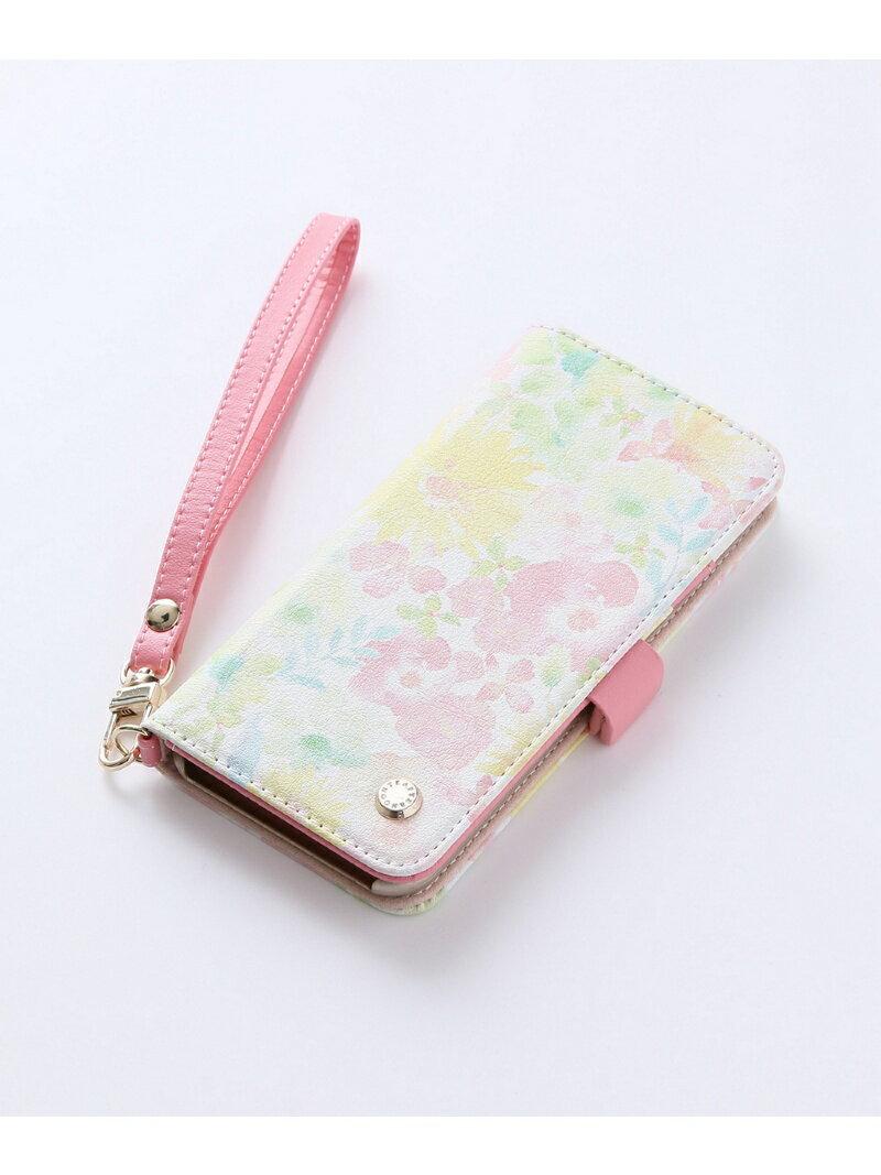 Afternoon Tea 水彩大花柄ブック型iPhone8/7/6/6sケース アフタヌーンティー・リビング