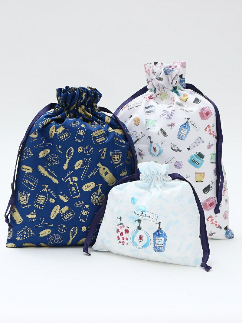 [Rakuten BRAND AVENUE]フェミニンモチーフ巾着ポーチセット Afternoon Tea アフタヌーンティー・リビング バッグ