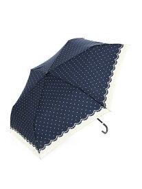 [Rakuten Fashion]シンプルドット折りたたみ傘雨傘 Afternoon Tea アフタヌーンティー・リビング ファッショングッズ 日傘/折りたたみ傘 ネイビー ホワイト ブルー