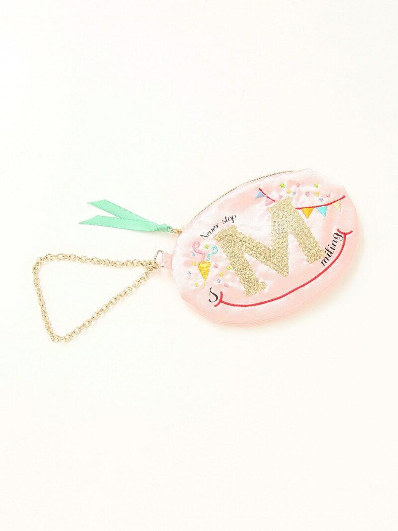 [Rakuten BRAND AVENUE]イニシャルスパンコール刺繍ミニポーチ Afternoon Tea アフタヌーンティー・リビング ファッショングッズ