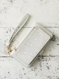 [Rakuten Fashion]フラワーモチーフブック型iPhone8/7/6/6sケース Afternoon Tea アフタヌーンティー・リビング ファッショングッズ 携帯ケース/アクセサリー シルバー