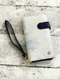 [Rakuten Fashion]水彩フラワー柄ブック型iPhone8/7/6/6sケース Afternoon Tea アフタヌーンティー・リビング ファッショングッズ 携帯ケース/アクセサリー ブルー ピンク