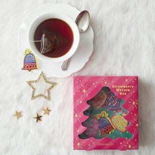 ストロベリーリースティークリスマスボックス【アフタヌーンティー・ティールーム】【紅茶ストロベリークリスマスプチギフト紅茶かわいいおしゃれ】