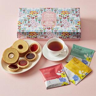 スプリングティータイムセット【スプリングギフト】【紅茶・焼き菓子詰め合わせ】