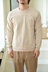 【Scye/Scye BASICS メンズ】【セール40%OFF】ハイゲージストレッチ裏毛パネルスウェットシャツ/1119-21106*CS#GH*