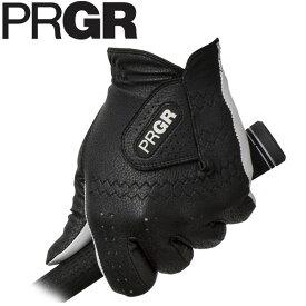 [2019年モデル] PRGR プロギア メンズ レザーコンポジットモデル ゴルフグローブ PG-119 B ブラック