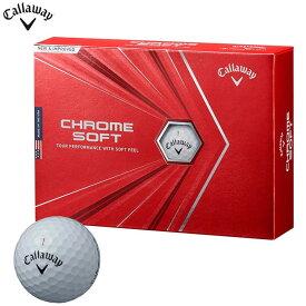 キャロウェイ CHROME SOFT クロム ソフト ゴルフボール 1ダース(12球入り) ホワイト [2020年モデル] 【あす楽対応】