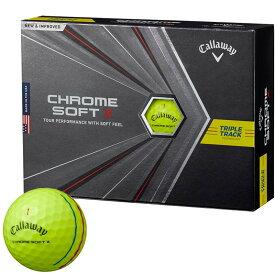 キャロウェイ CHROME SOFT X TRIPLE TRACK クロム ソフト エックス トリプルトラック ゴルフボール 1ダース(12球入り) イエロー [2020年モデル] 【あす楽対応】