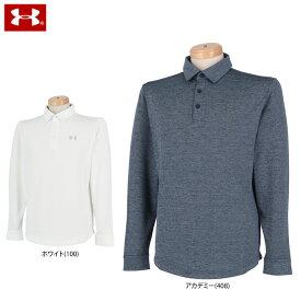 アンダーアーマー メンズ ヒートギア ロゴプリント 長袖 ポロシャツ 1345463 ゴルフウェア [2020年秋冬モデル 30%OFF] 特価 【あす楽対応】