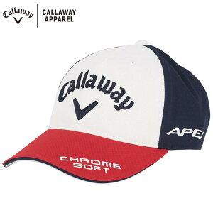 キャロウェイ メンズ 立体ロゴ刺繍 ツアー UV キャップ 241-1991504 038 トリコロール ゴルフウェア [2021年モデル] 【あす楽対応】