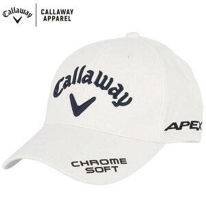 キャロウェイ メンズ 立体ロゴ刺繍 ONE FIT ツアー キャップ 241-1991505 030 ホワイト ゴルフウェア [2021年モデル] 【あす楽対応】