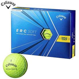 [2021年モデル] キャロウェイ E・R・C SOFT ERCソフト ゴルフボール 1ダース(12球入り) イエロー 【あす楽対応】
