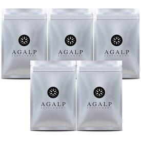 【AGALP】 育毛 サプリ ブロッコリースプラウト ノコギリヤシ 亜鉛 ミネラル 育毛 発毛 薄毛 抜毛 120粒×5袋