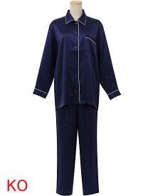 【ワコール 睡眠科学】〜シルクサテン無地〜パジャマ