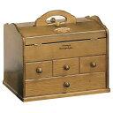 【ソーイングボックス】【送料無料】天然木を使用したお洒落な木製ソーイングボックス 裁縫箱 おしゃれ コンパクト G-677B