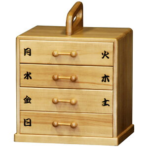 日本製【送料無料】1週間分の薬を分けて収納できる便利な桐製の薬箱救急箱 T5554