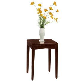 【送料無料】シンプルなデザインの木製ロースタンド ナイトテーブルシェルト0504BR