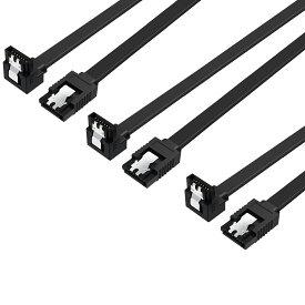 【送料無料 3本セット】 SATA ケーブル L型 ラッチ付き シリアルATA3ケーブル 6Gbps対応 SSD/HDD増設 抜け落ち防止 45cm SATA3 HDD まとめ買い サタケーブル ポイント消化