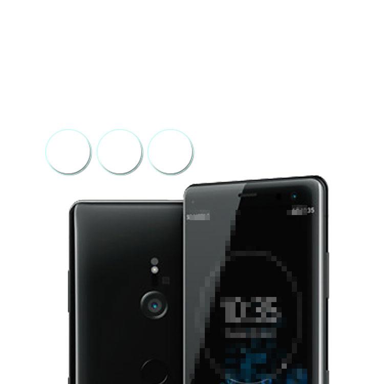 SONY Xperia XZ3 カメラレンズ用 強化ガラス 硬度7.5H 0.1mm ソニー エクスペリアXZ3 レンズ保護ガラスフィルム