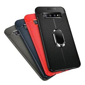 Samsung Galaxy S10/S10+/S10eケース/カバー TPU 耐衝撃 スマホリング付き 片手操作に便利なリングブラケット付き ストラップ付き ギャラクシーS10/S10+/S10E ソフトケース/カバー カバー サムスン おすすめ おしゃれ スマフォ スマホ スマートフォンケース/カバー