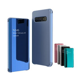 Samsung Galaxy S10/S10+/S10e ケース/カバー 二つ折り 半透明 フタに応答操作可能 液晶保護 ギャラクシー S10/S10+/S10e ケース/カバー おすすめ おしゃれ スマフォ スマホ スマートフォンケース/カバー