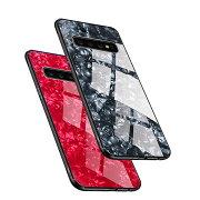SamsungGalaxyS10/S10+/S10eケース/カバーTPU背面強化ガラス背面パネル付きかっこいいギャラクシーS10/S10+/S10Eケース衝撃吸収落下防止androidケース/カバースマフォスマホスマートフォンケース/カバースマホガード