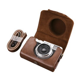 FUJIFILM X100V レザーケース PUレザー カバー フジフィルム X100V対応ケース/カバー デジタルカメラバッグ 衝撃吸収 落下防止