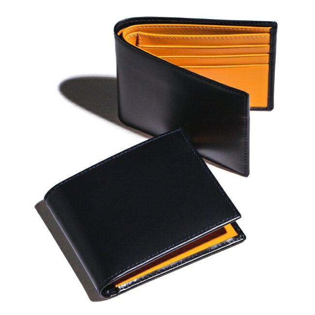エッティンガー/ETTINGER 財布 メンズ Bridle Hide 2つ折り財布 ネイビー BH030CJR-0001-0002