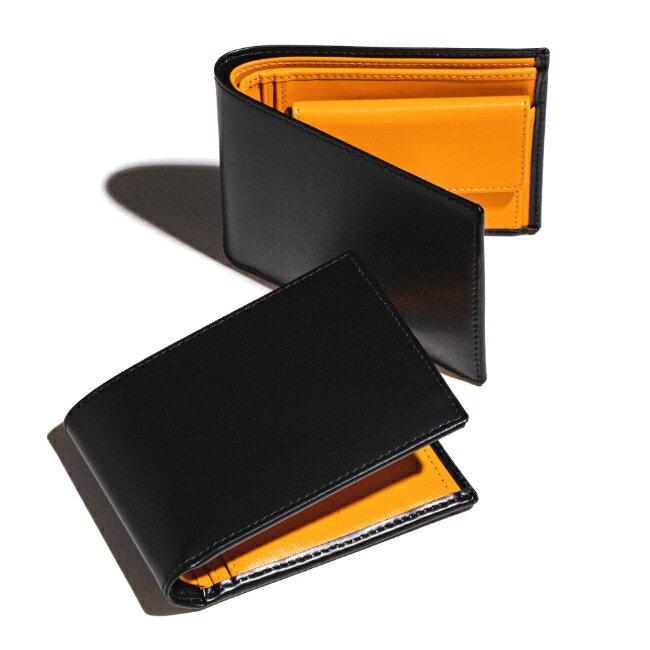 エッティンガー/ETTINGER 財布 メンズ Bridle Hide 2つ折り財布 ブラック BH141JR-0001-0001