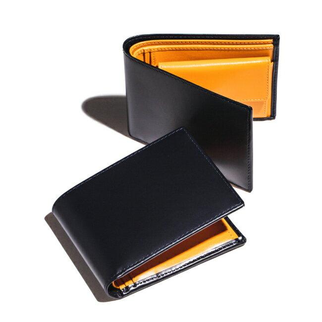 エッティンガー/ETTINGER 財布 メンズ Bridle Hide 2つ折り財布 ネイビー BH141JR-0001-0002