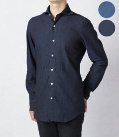 【FINAL SALE】フィナモレ/FINAMORE シャツ メンズ TOKIO デニムシャツ SIMONE-043985