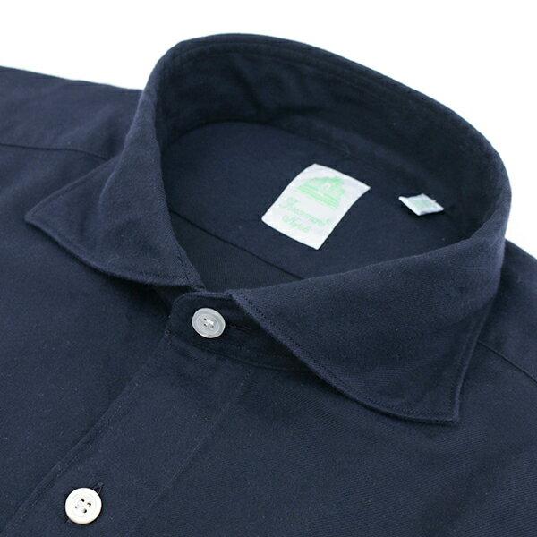 【秋冬セール】フィナモレ/FINAMORE シャツ メンズ TOKIO カジュアルシャツ ネイビー SIMONE-980163-01NAV