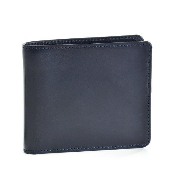 グレンロイヤル/GLENROYAL 財布 メンズ ブライドルレザー 2つ折り財布 ネイビー 034128-0001-0003