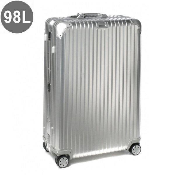 【数量限定】リモワ/RIMOWA キャリーバッグ メンズ TOPAS(E-TAG) スーツケース シルバー 98L NEWモデル 92477005-0002-0013