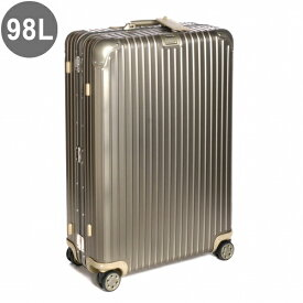 リモワ/RIMOWA キャリーバッグ メンズ TOPAS TITANIUM スーツケース シャンパンゴールド 98L NEWモデル92477034-0002-0014