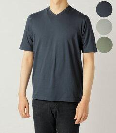 【2019年春夏 SALE】ザノーネ/ZANONE Tシャツ メンズ VネックTシャツ 2019年春夏新作 81M015-ZY387