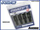 RAYS(レイズ)レーシングボルトミディアムタイプ(ヘッド部35mm)17HEX M14xP1.5 首下38mm60°テーパー座 4本入