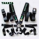 【正規品】TAKATA 3x2 6点式シートベルト FIA有効期限2023年 カラー:ブラック 94004-0